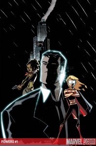 Powers #1 cover by Mike Avon Oeming