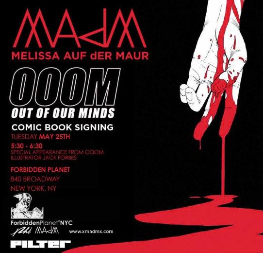 Melissa Auf Der Maur OOOM signing