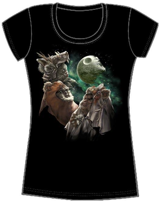 3 Three Ewok Death Star Moon T-Shirt Endor