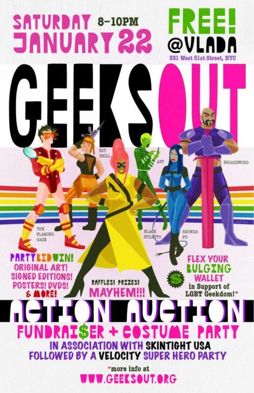 LGBT GeeksOUT comics community fundraiser