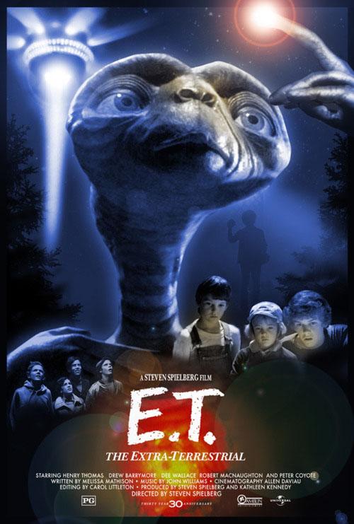 E.T. 30th Anniversary poster Blu Ray release