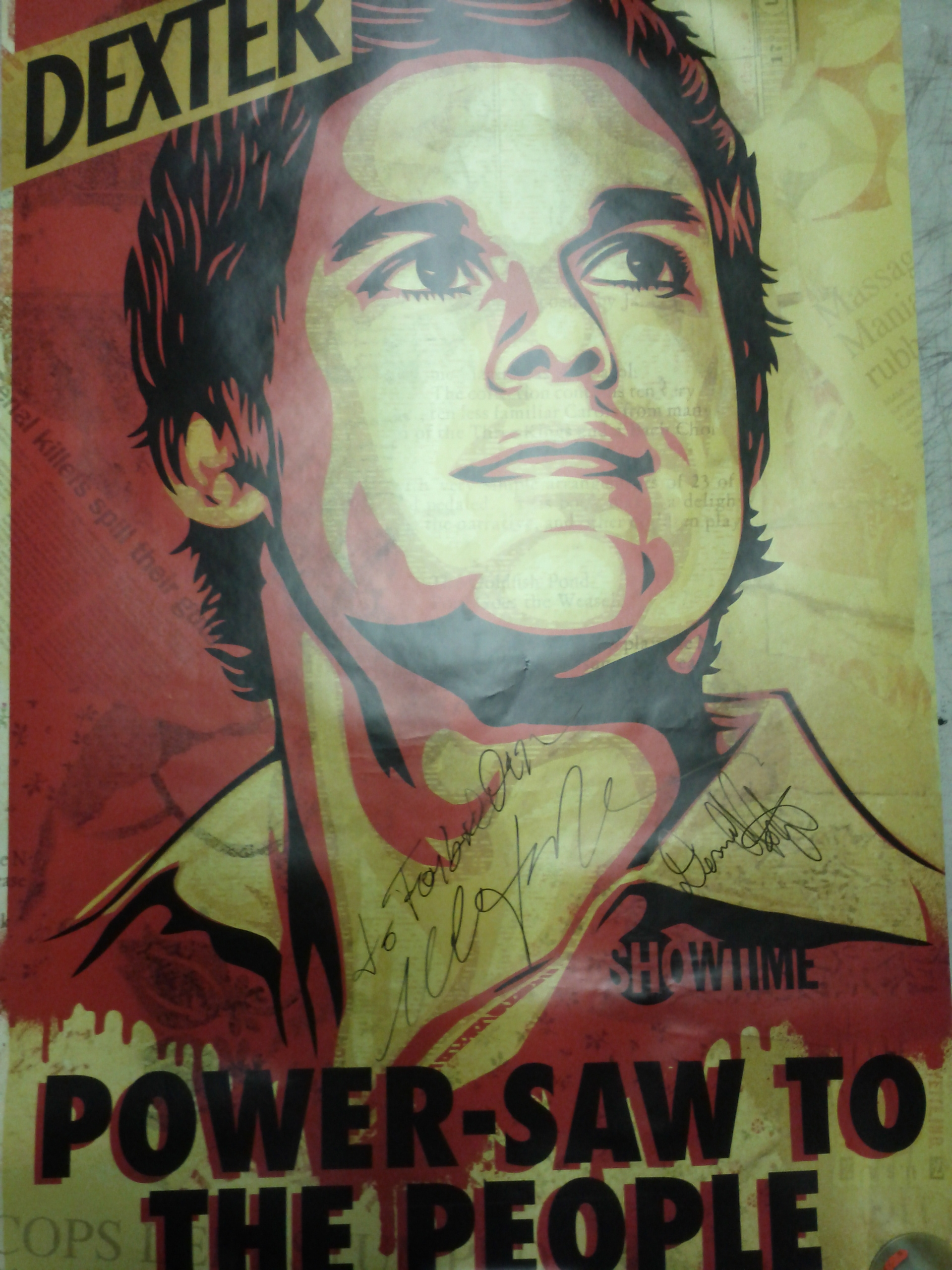 Signed Dexter Poster