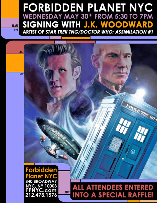 Forbidden Planet NYC Star Trek Doctor WHo signing #1 poster