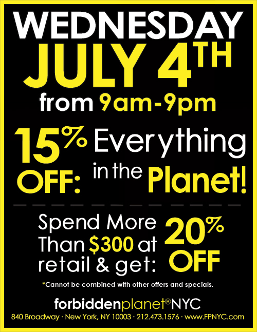 Storewide Sale Forbidden Planet coupon discount