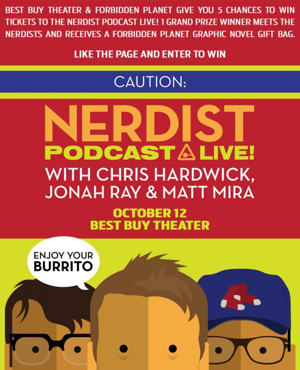 Win tickets to the Nerdist podcast live!