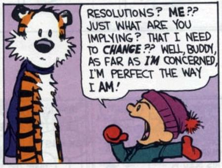Calvin Hobbes New Year New Year's Eve