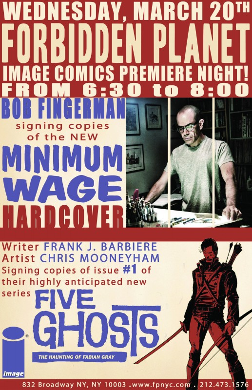 Five Ghosts Image Comics Bob Fingerman #1 Minimum Wage Image Comics