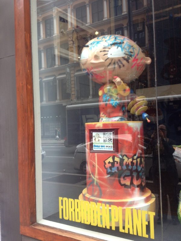 #FamilyGuyNYC Stewie Promotion Forbidden Planet