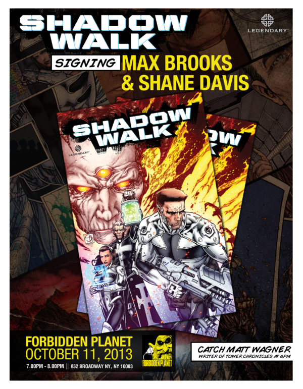 Max Brooks Shane Davis Forbidden Planet signing