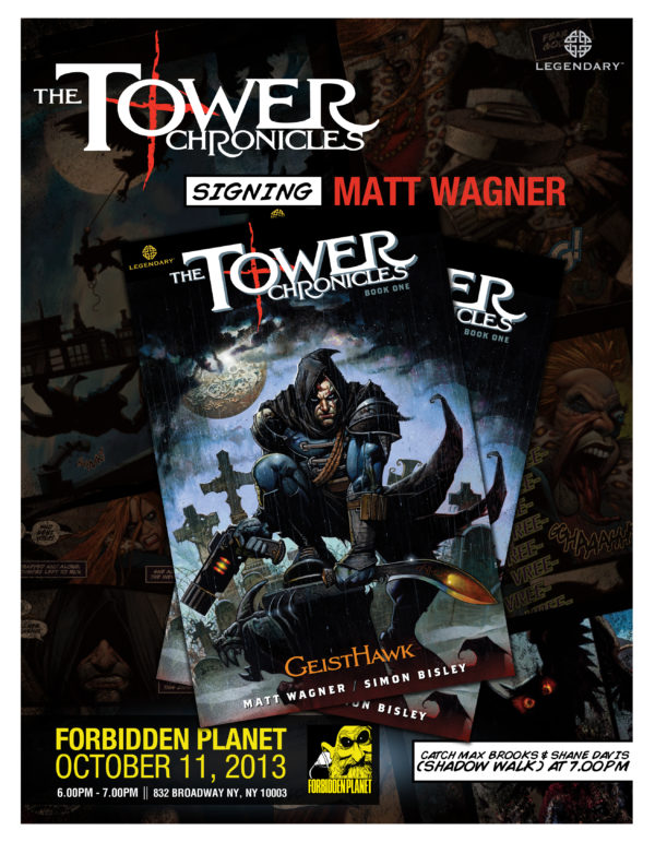 Matt Wagner Grendel Tower Chronicles ForbiddenPlanetsigning