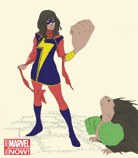 Muslim superhero comics Kamala Khan