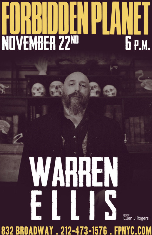 Warren Ellis event signing Forbidden Planet New York City NYC