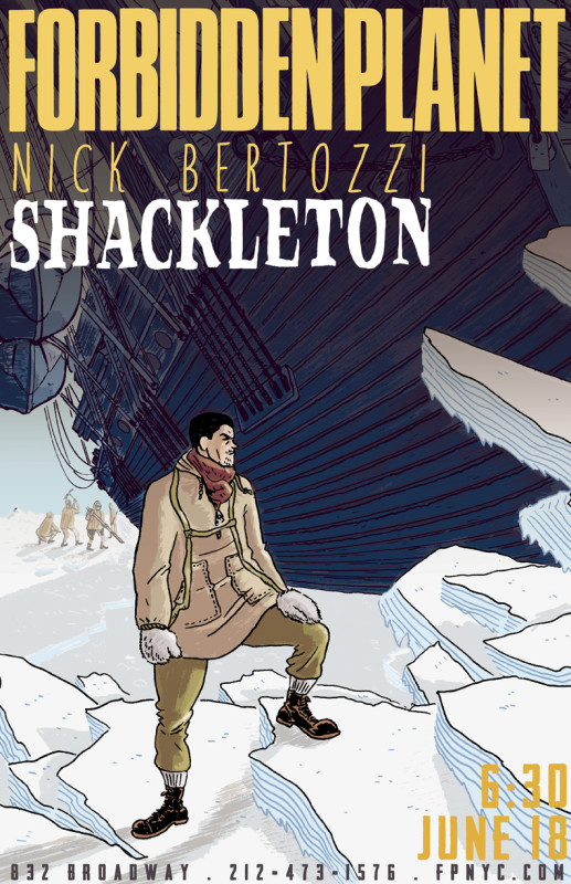 NY Times best-selling comics artist Nick Bertozzi Forbidden Planet NYC signing