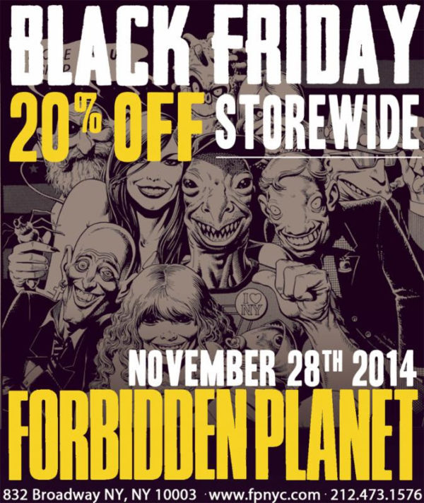 Forbidden Planet Black Friday Sale 2014