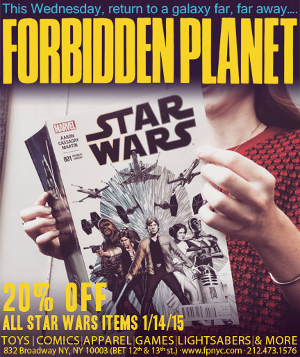 Star Wars Forbidden Planet Sale Marvel Comics #1