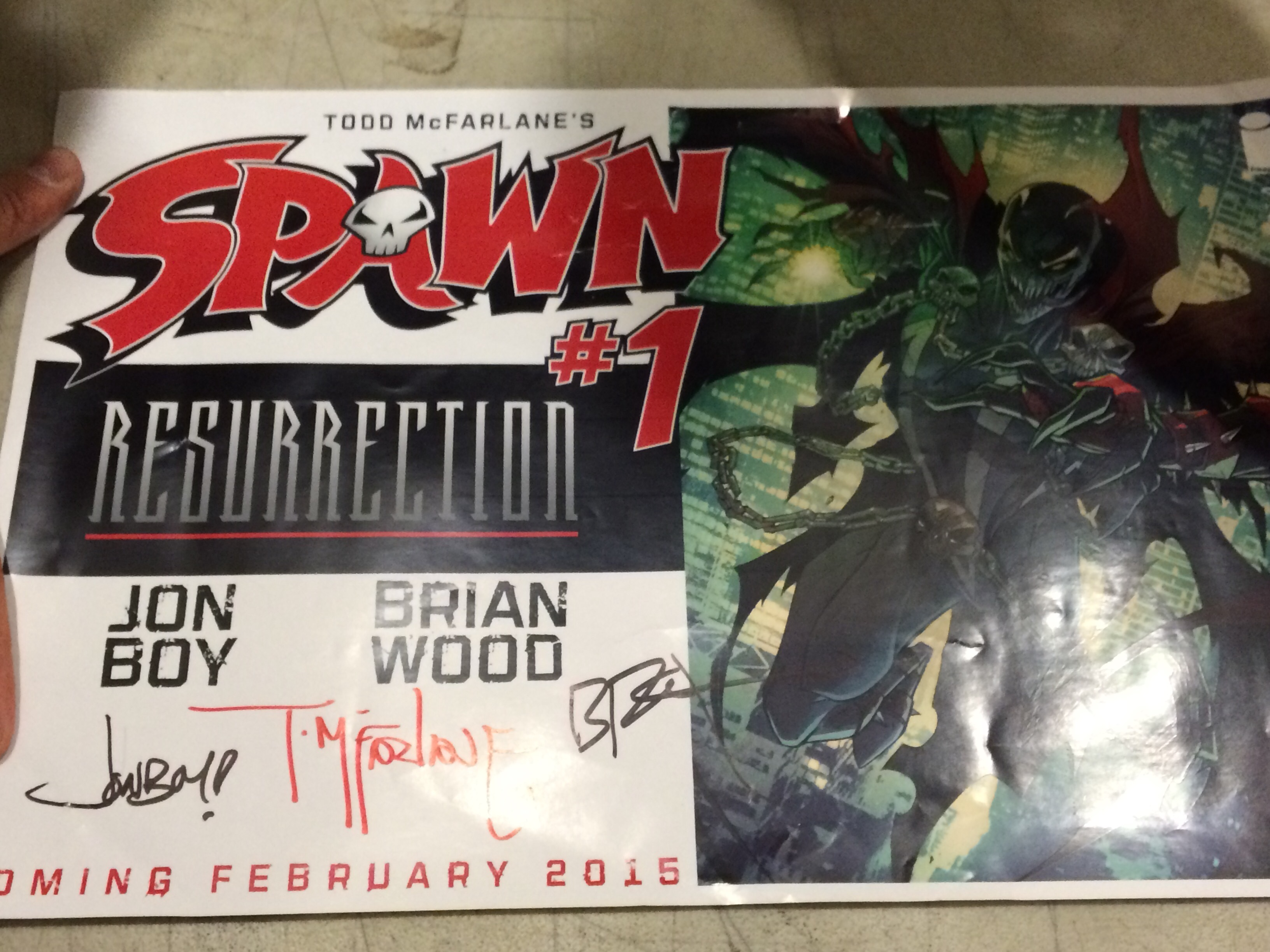 Signed Todd McFarlane poster