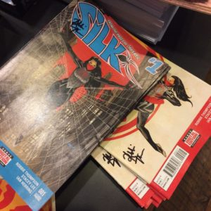 Forbidden Planet Silk signed by Robbie Thompson