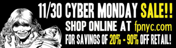 30% 90% off Forbidden Planet items cyber Monday sale