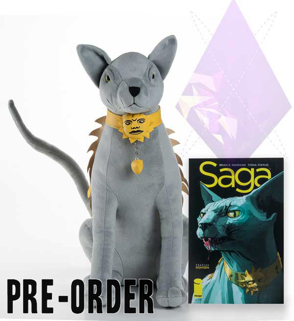 "Essential Sequential Saga Talking Lying Cat Plush Toy 19"" Figure Brian K. Vaughan Fiona Staples"