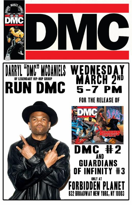 Darryl McDaniels Forbidden Planet event DMC Comics Guardians of Infinity