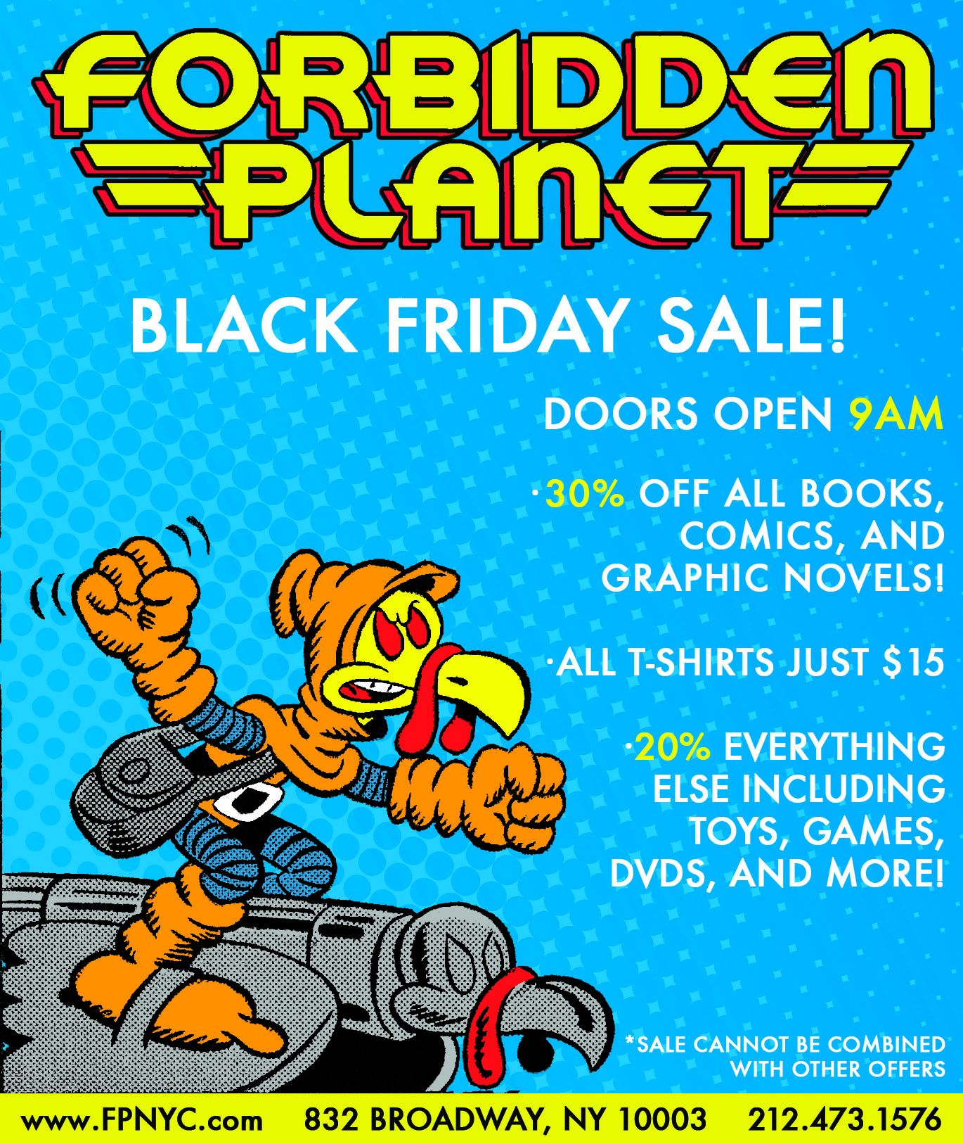 Sale, Forbidden Planet Sale, Hobgoblin, Thanksgiving Sale