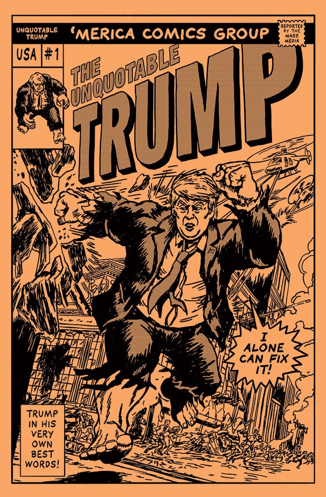 Donald Trump quotes comic book